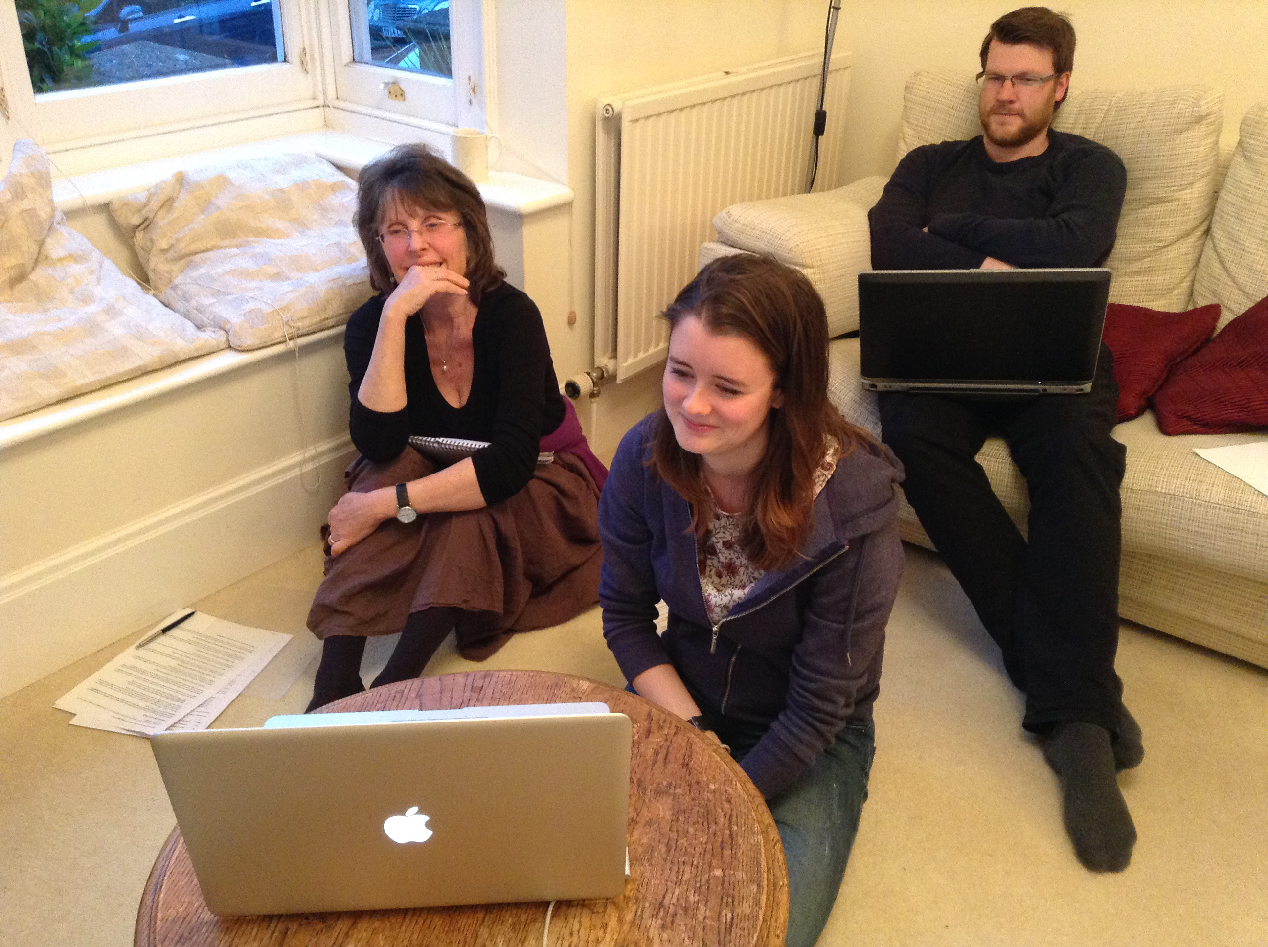 Members of the Communications team at work